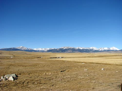 Front Range from South Park