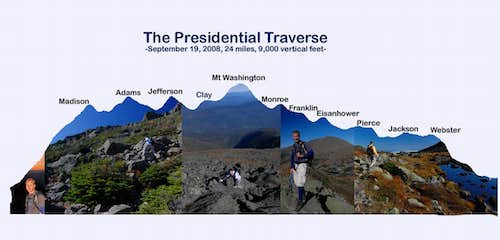 Presidential Traverse  - Madison to Webster with Pics