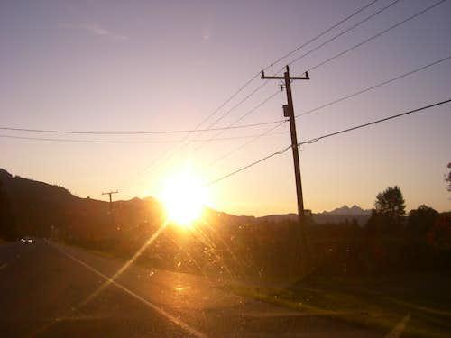 sunrise over baker