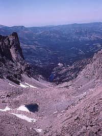 Rocky Mtn High 1975 - Looking back at Tyndall Gorge