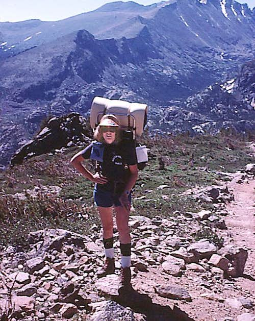 Rocky Mtn High 1975 - Yours Truly Hiking Up Flattop Mountain