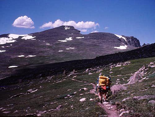 Rocky Mtn High 1975 - Hiking up Flattop Mtn
