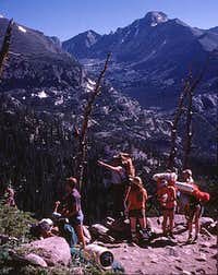 Rocky Mtn High 1975 - Hiking up Flattop Trail