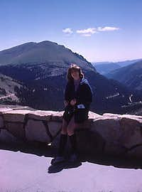 1975 - Yours Truly at Alpine Visitors Center