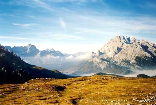 Sorapis (3205 m) and Monte...