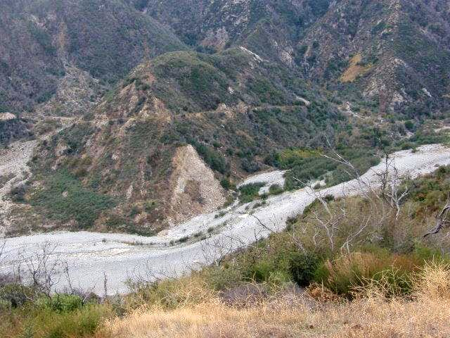 Lytle Creek wash from Penstock Ridge