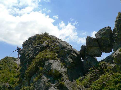 On the north ridge...