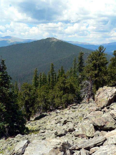 Chief Mountain from Squaw Peak