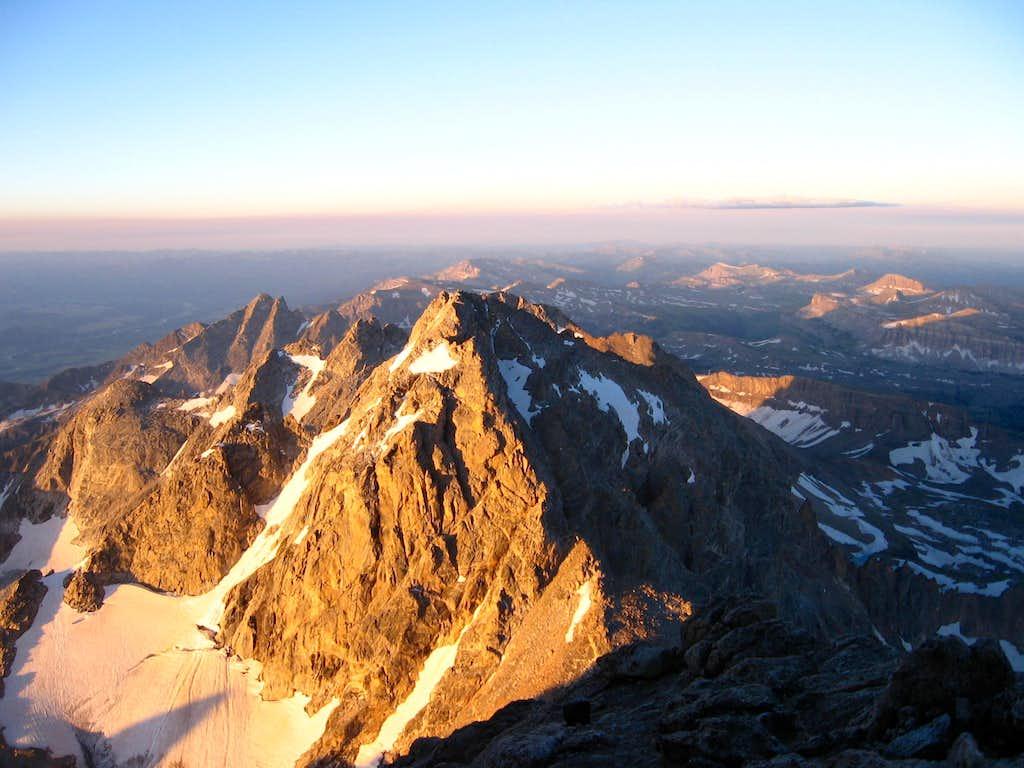 Morning light on the Teton Range