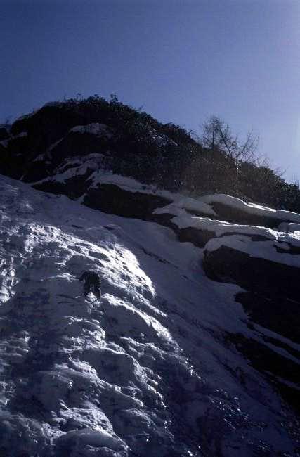Ma Yihua leading up lower ice...