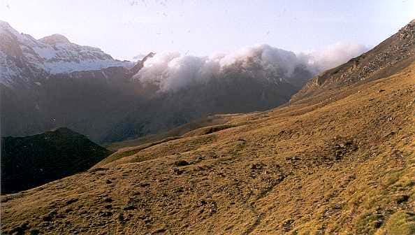 Southern Foehn effect in the Pyrenees, on the Spannish side (Valley of Pineta)