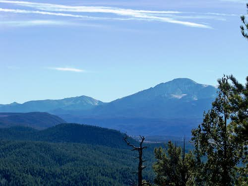 Pikes Peak and Almagre from near the summit of Mount Deception