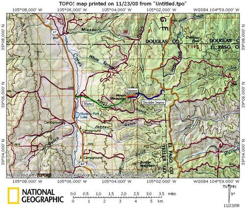 Route Overview, Mount Deception