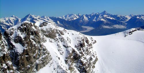 Fletschhorn and Bernese Alps