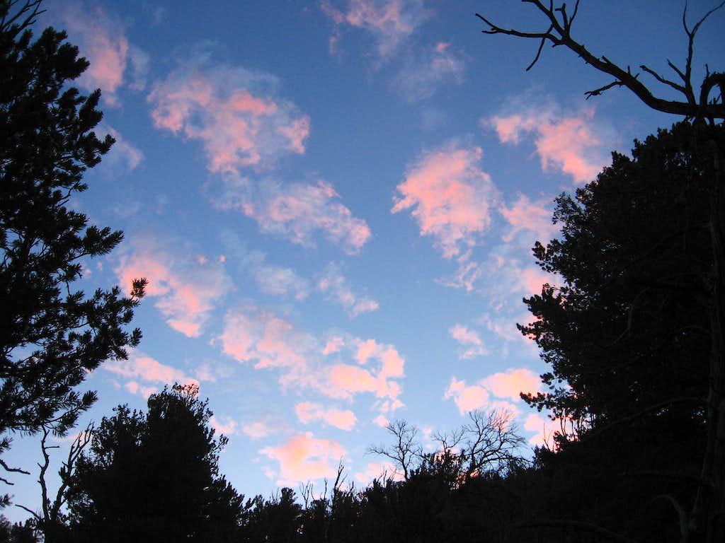Pink Clouds on Borah