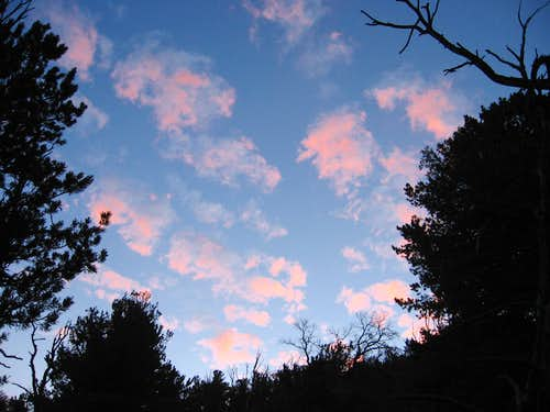 Pink Clouds on Borah