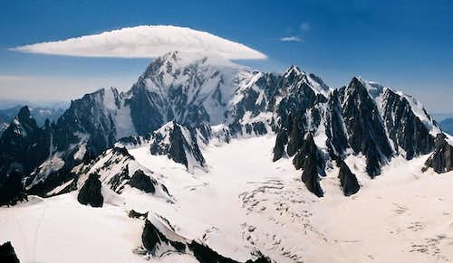 An UFO above Mont Blanc