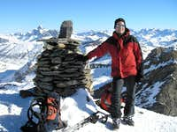 Summit of Gletscherhorn 3107m