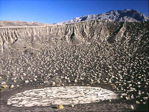 The Ubehebe Crater near...