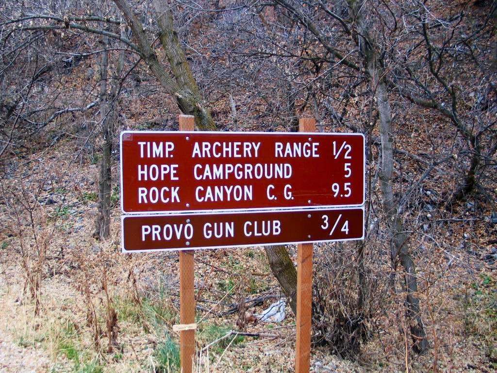 Sign at beginning of Squaw Peak Road