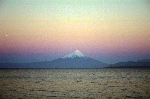Osorno from Puerto Varas in...