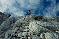 Pipan's ladder on Jôf di Montasio