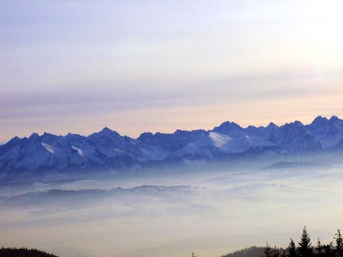 Panorama from PTTK Chalet on Turbacz