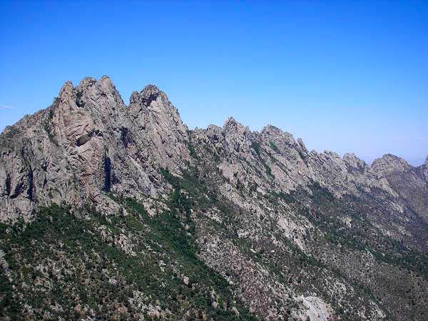 View of Organ Needle from the summit