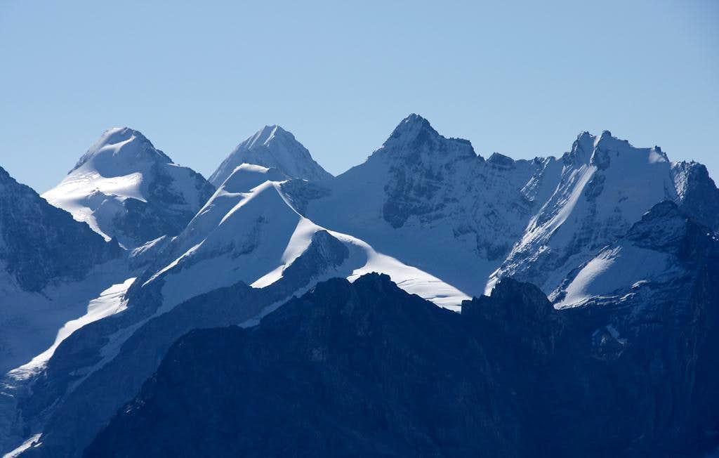 Monte Zebru (3735m), Königspitze (3851m), Thurwieser Spitze (3530m), Trafoier Eiswand (3563m)