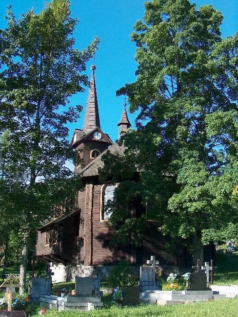 The wooden church in Javorina