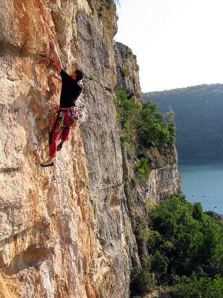 Climbing at Limski Kanal