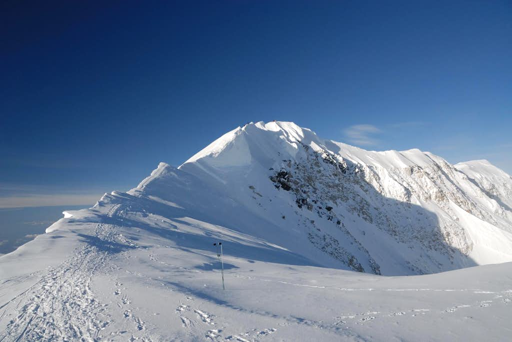 Climbers on Denali Summit Ridge