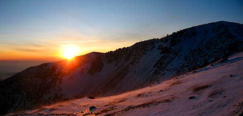 baldy sunset pano 1