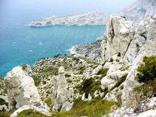 Calanques - view from hike...