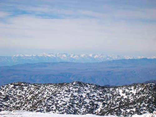 View west of the Sierra's....