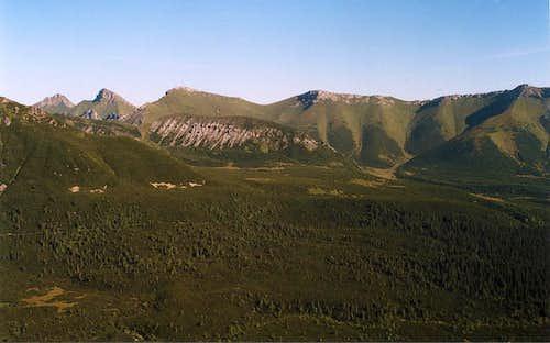 White Tatras from Veľká Svišťovka