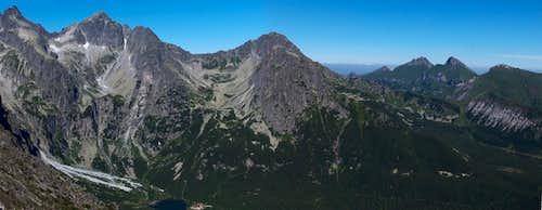 High & White Tatras from Veľká Svišťovka