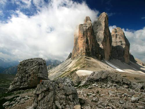 Tre Cime, Emerging from the Clouds