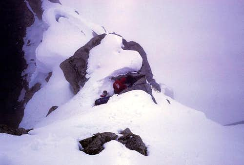 Ridgecrest Bivouac on Reality Ridge