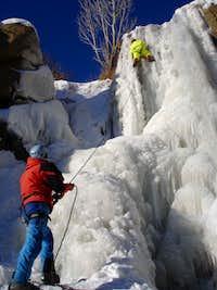 climb ice water fall