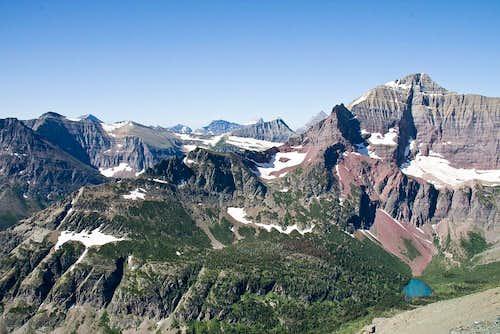 Mount James in a garbled landscape....