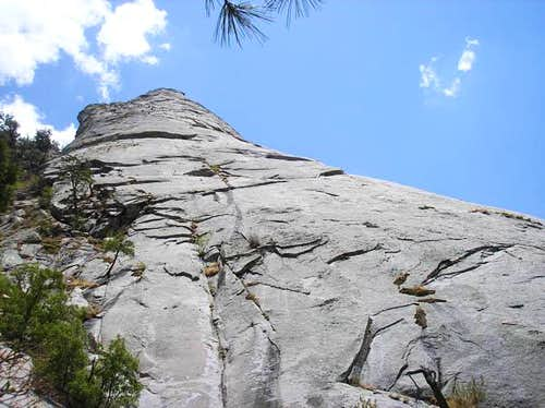 Looking up Sugarloaf's North Face