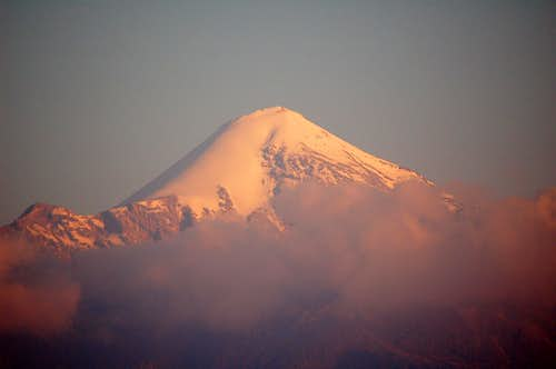 Alpenglow on Orizaba