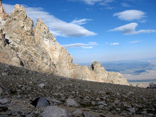 Camping on Lower Saddle