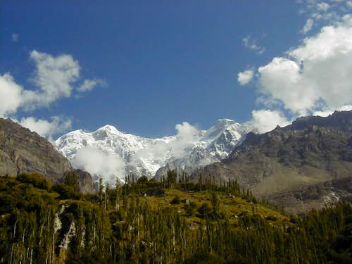 Ultar Peak (7388-M) as seen from Karimabad Hunza