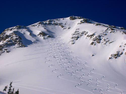 Lake Peak ski tracks