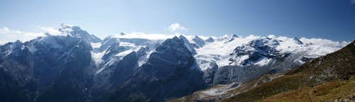 Panorama central Ortler Group