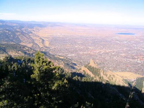 Looking north down to Boulder...