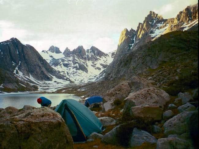 Base camp at Upper Titcomb Lake