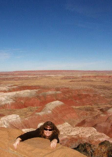 Falling into the Painted Desert